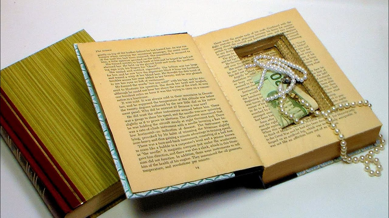 How To Make A Bookend : How to make a book safe youtube