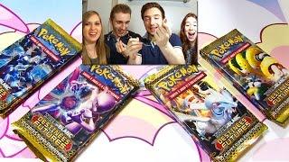 POKEMON CHALLENGE ! DavidLafargePokemon & MissJirachi VS Osseli et Sora ! Ouverture booster pokemon