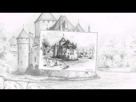 рисунки замка карандашом