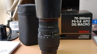 Sigma 70-300mm F4-5.6 APO DG MACRO Lens Unboxing