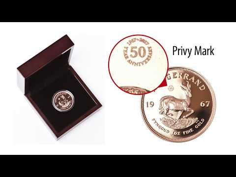 Krugerrand 1 Oz Gold Coin from South Africa 1967 in Vintage Proof from EMK.com