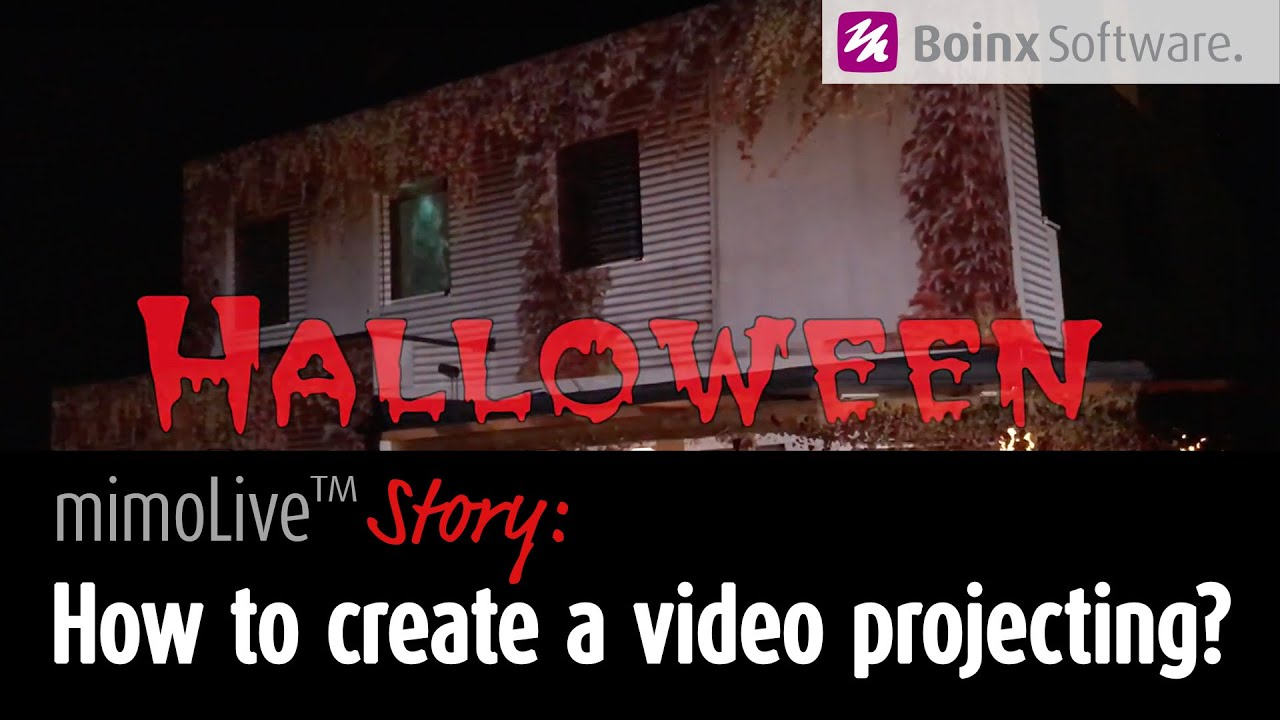 Halloween House Projection Mapping