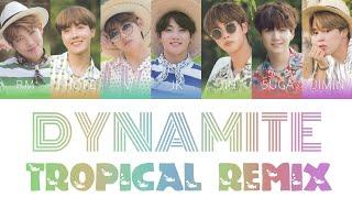 BTS (방탄소년단) - Dynamite (Tropical Remix) Color Coded Lyrics