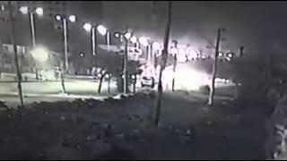 شاهد بالفيديو.. لحظة وقوع حادث حلوان الإرهابى بإحدى كاميرات المراقبة بالشارع