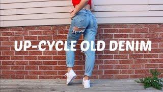 DIY UP-CYCLE OLD DENIM JEANS LOOKBOOK 2016 | THREADSOBSESSED