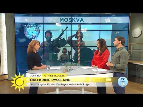 """Ryssland spänner musklerna i stor försvarsövning – """"Inte sett sen Sovjetunionen - Nyhetsmorgon (TV4)"""