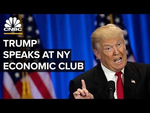 President Trump speaks at NY Economic Club amid US-China trade concerns – 11/12/2019