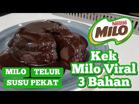 Kek Milo Viral 3 Bahan Je Mesti Cuba Youtube