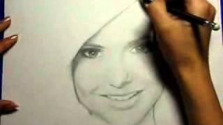My new drawing Nina Dobrev (by Ellen Sunbeam-Elena2687)