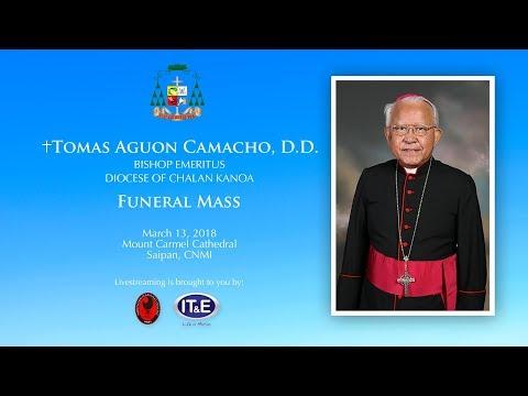 Livestream for the Memorial Services of Bishop Emeritus Tomas Aguon Camacho