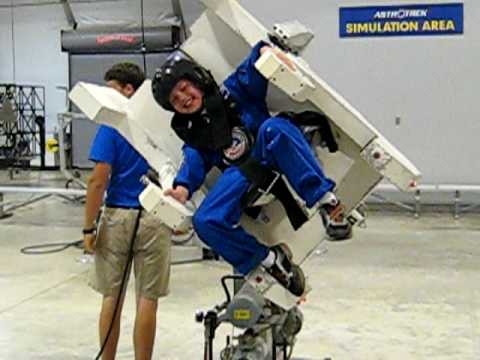 aj enjoys the 5 degrees of freedom at space camp july