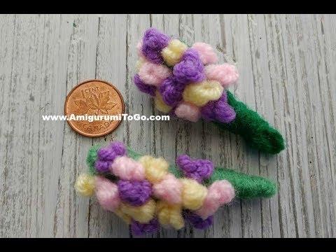 Crochet Bouquet of Flowers For Mini Wedding Bear - YouTube