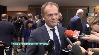 """Tusk: """"Amíg én vagyok az elnök, a Fidesz nem térhet vissza a Néppártba"""