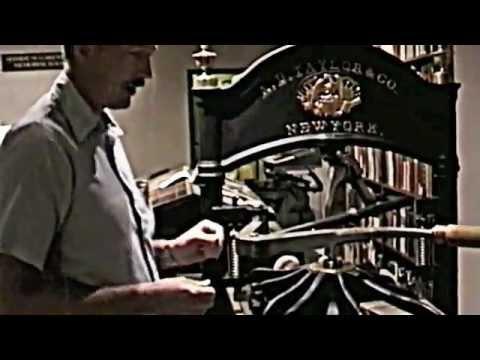 Gutenbergs Letterpress Printing Process