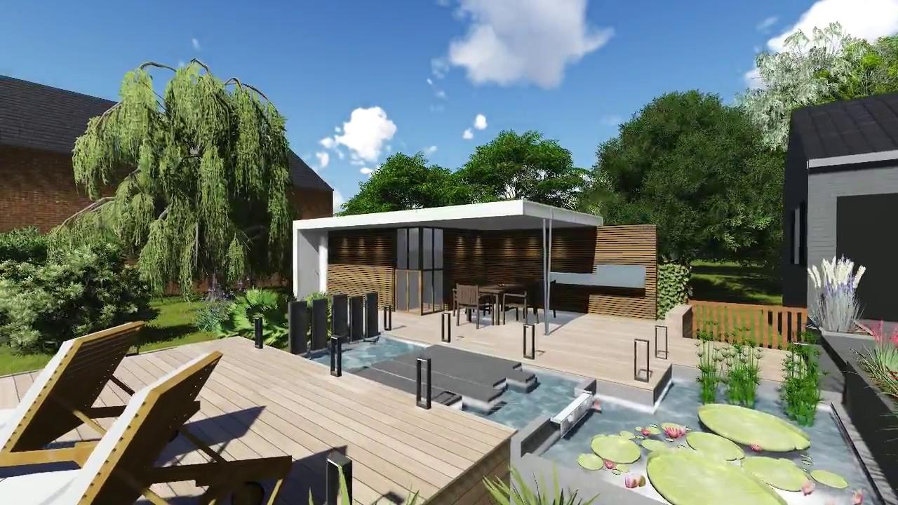 Construire Un Pool House construction d'un pool house, piscine et bassin 1 - youtube