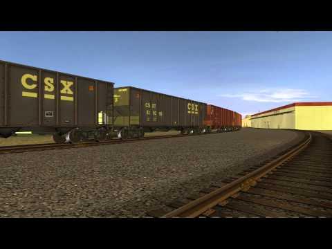 [HD] TrainzWatching: CSX Train E109 (Trainz Simulator 12)  