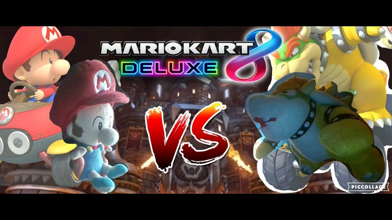 Baby Mario Vs Bowser In Mario Kart 8 Deluxe Intense Match