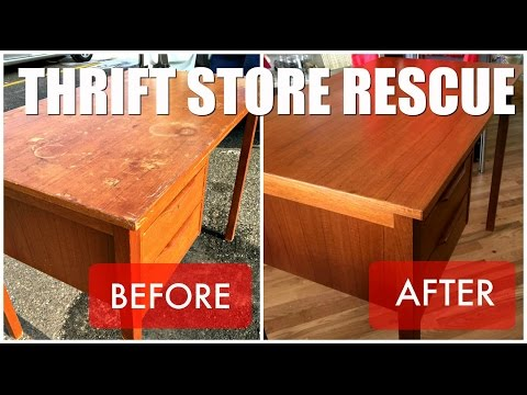 Thrift Store Rescue / Teak Desk Refinish