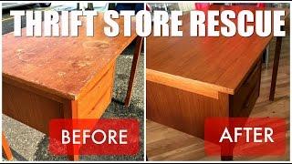 Video Thrift Store Rescue / Teak Desk Refinish download MP3, MP4, WEBM, AVI, FLV April 2018