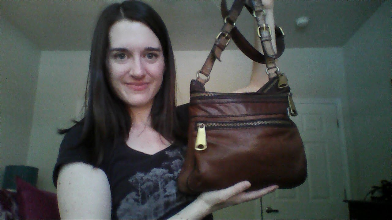 What S In My Purse Fossil Explorer Crossbody