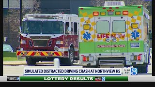 Simulated distracted driving crash at Northview HS