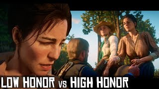 Low Honor vs High Honor - Arthur Says Goodbye To Abigail & Sadie - Red Dead Redemption 2