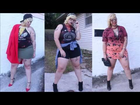 DIY Plus Size Lace up Vintage Distressed T-shirts| 3 ways to style