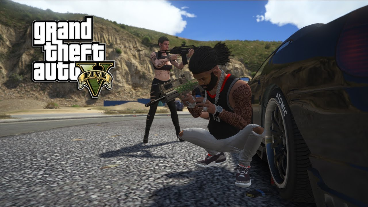 GTA 5 - FRANKLIN TAKES ON VIP PROTECTION CONTRACT (GTA 5 PC MODS NVRX)