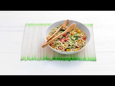 Kamutspaghetti met pecorino en pesto – Allerhande