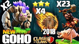 Th9 NEW ATTACK STRATEGY 2018 | GoHo with 4 EarthQuake Spell | BEST TH9 ATTACK | Clash Of Clans coc