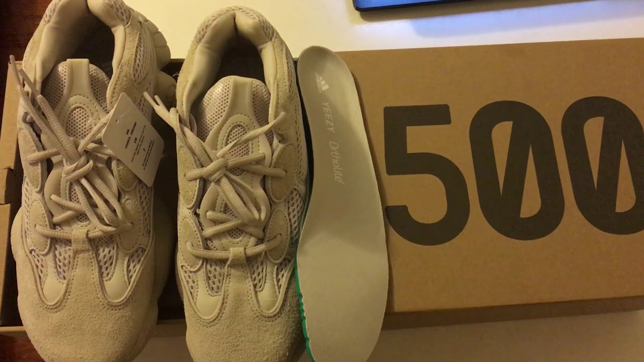 6933c604d 開箱椰子500 Unboxing Adidas Yeezy 500 Blush Review Size 9 - YouTube
