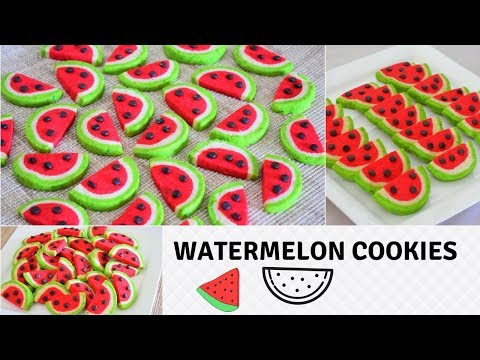 Watermelon Cookies | Crispy & Buttery | Perfect For Beginners | Recipe From Scratch-Food Connection