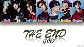 Gambar cover GOT7 – The End (끝) [HAN/ROM/ENG COLOR CODED LYRICS]