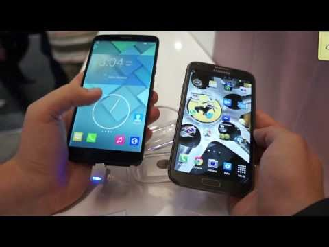 Alcatel One Touch Hero vs. Samsung Galaxy Note 2 comparison english