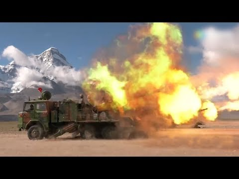 Chinese Army carries out military exercise on Tibet plateau