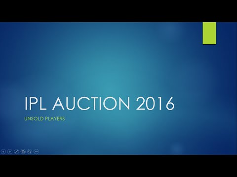 List of players unsold at IPL auction 2016