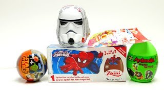 Super Surprise EGG Set Spiderman Star Wars and Surprise Animal Toys