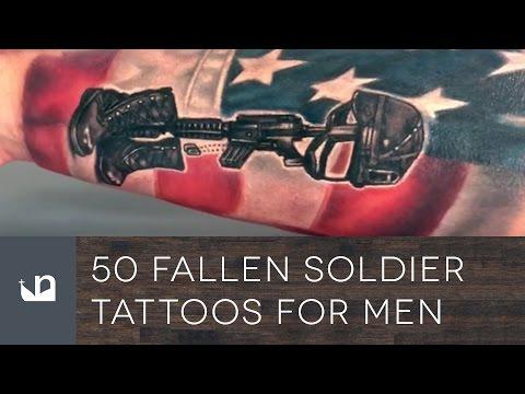 50 Fallen Soldier Tattoos For Men