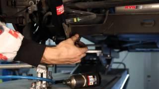 RENAULT Trafic II, NISSAN Primastar, Opel Vivaro - REAR - Задние амортизаторы KYB установка