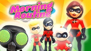 The Incredibles 2 Morning Routine! With Jack Jack, Elastigirl and the Screenslaver!