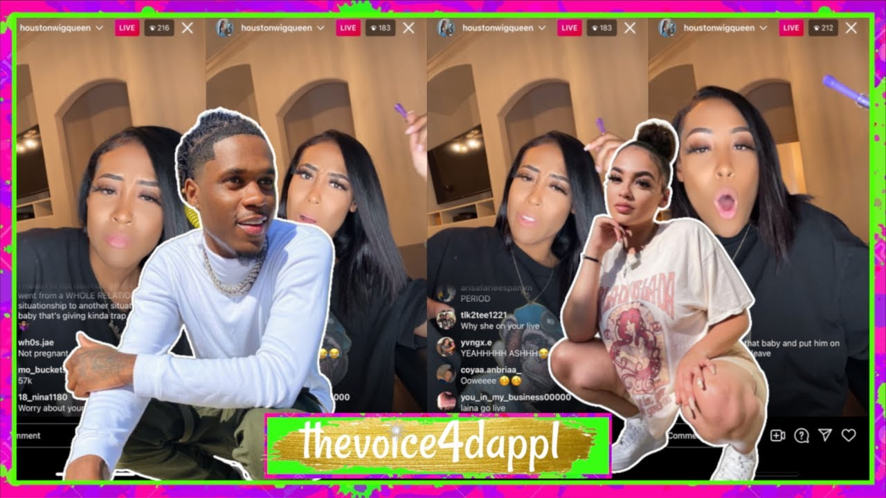 King Kasier 's New Girl GET$ INTO IT W/ THE EXGIRL ASHLEY ON LIVE