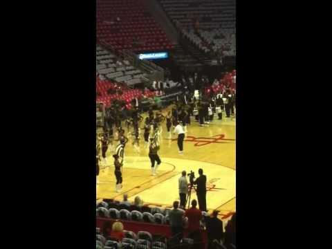 Calvin Murphy Pregame Rockets Mavericks Game 2