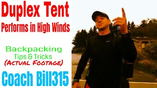 Duplex Tent: Performs in High Winds