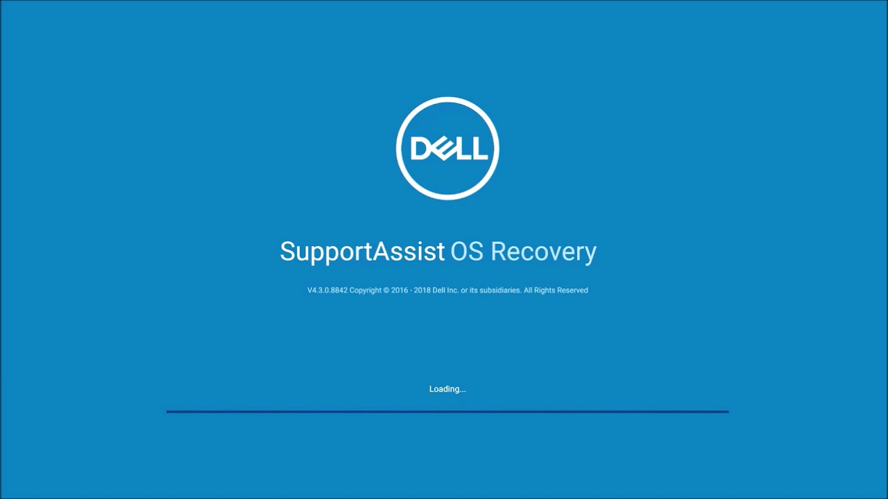 Clean Install of Windows 10 Using Dell Support Assist OS Recovery