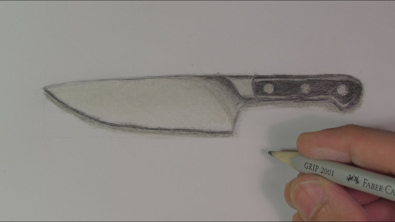 It's just a picture of Superb Drawing Of Knife