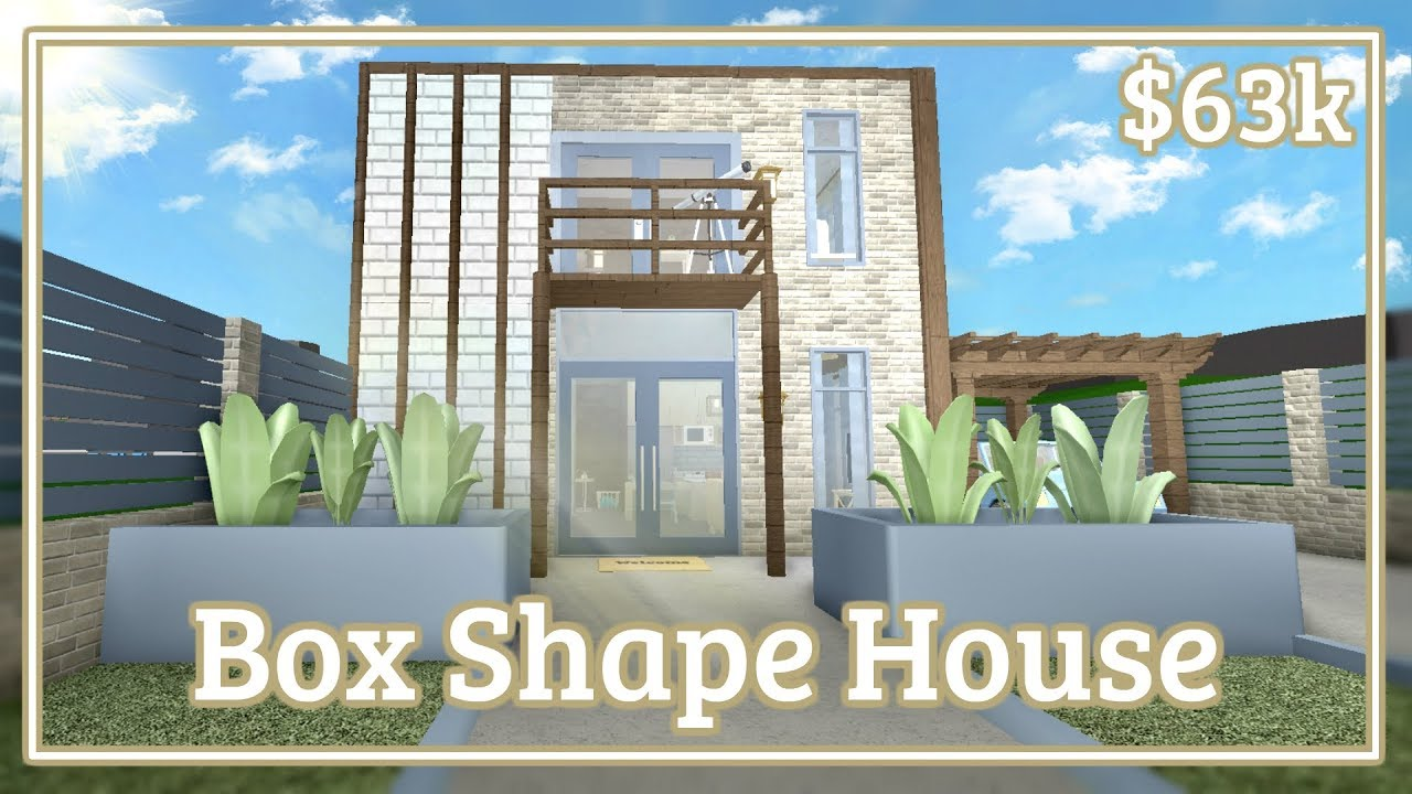 Bloxburg Box Shape House Speed Build