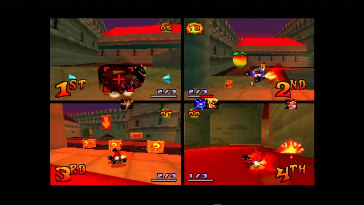 Crash Team Racing Cortex Castle 4 Player Multiplayer