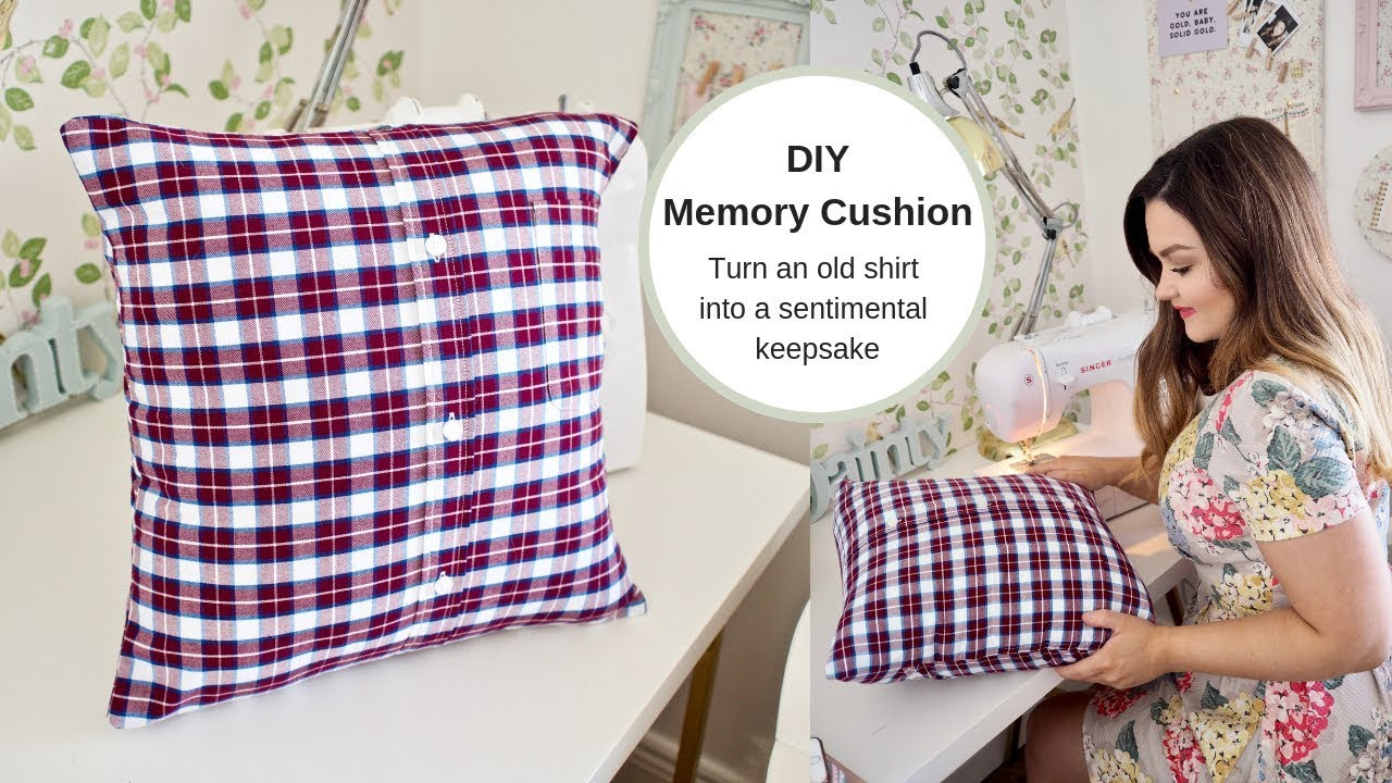 how to make a memory cushion from a shirt no zip