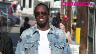 Sean quot;P Diddyquot; Combs Greets Fans amp; Signs Autographs At Jimmy Kimmel Live 6517