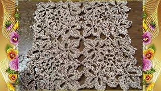 Квадратный мотив крючком.МК для начинающих.Square Crochet Motif.MK For Beginners